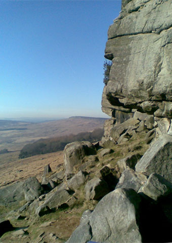 rock on trad climbing stanage edge