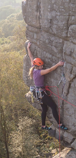 rock on climbing helmets