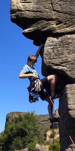 rock on climbing equipment