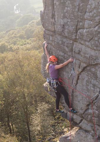 rock on staff climbing
